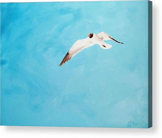 Bird Acrylic Print featuring the painting Loner by Scott Alcorn