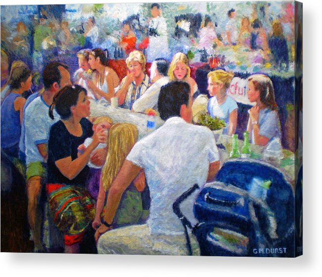 Family Acrylic Print featuring the painting Lunch At The O.b.m. by Michael Durst