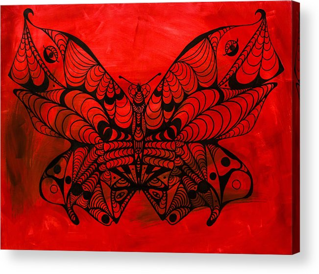 Max The Butterfly Acrylic Print featuring the painting Max The Butterfly by Kenal Louis
