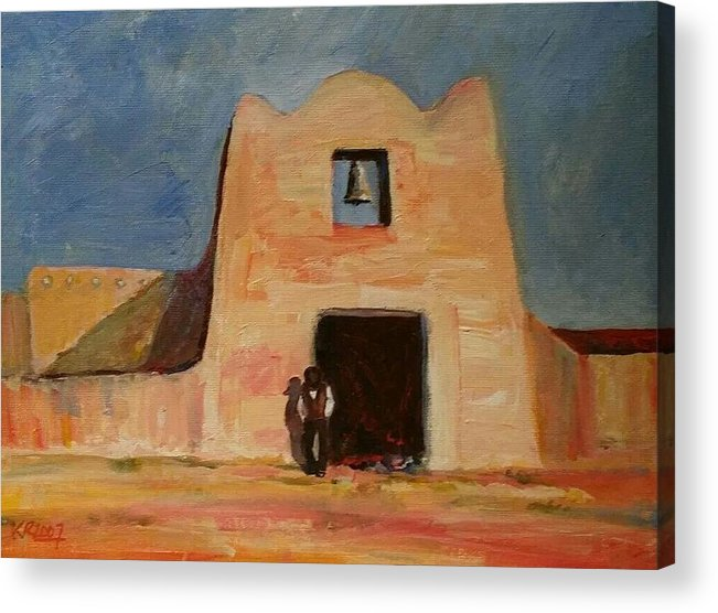 Mission Acrylic Print featuring the painting Mission by K Blackwolf