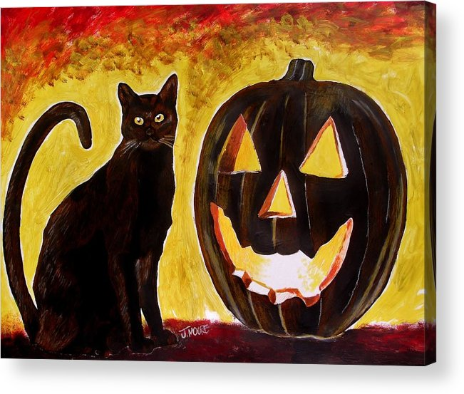 Halloween Acrylic Print featuring the painting October by Jeremy Moore