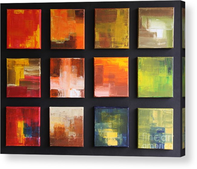 Puzzle Acrylic Print featuring the painting Puzzle Iv by Christiane Schulze Art And Photography