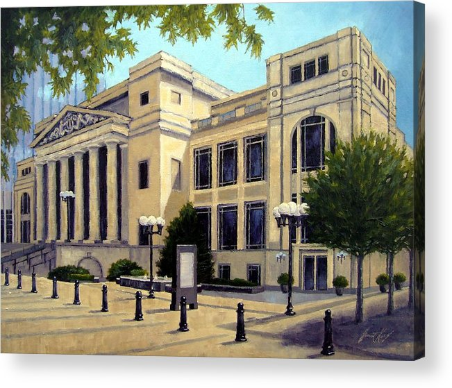 Nashville Acrylic Print featuring the painting Schermerhorn Symphony Center by Janet King