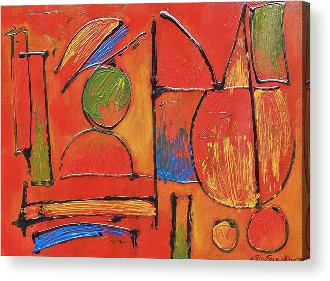 Abstract Acrylic Print featuring the painting Searching For My Soul by Jason Williamson