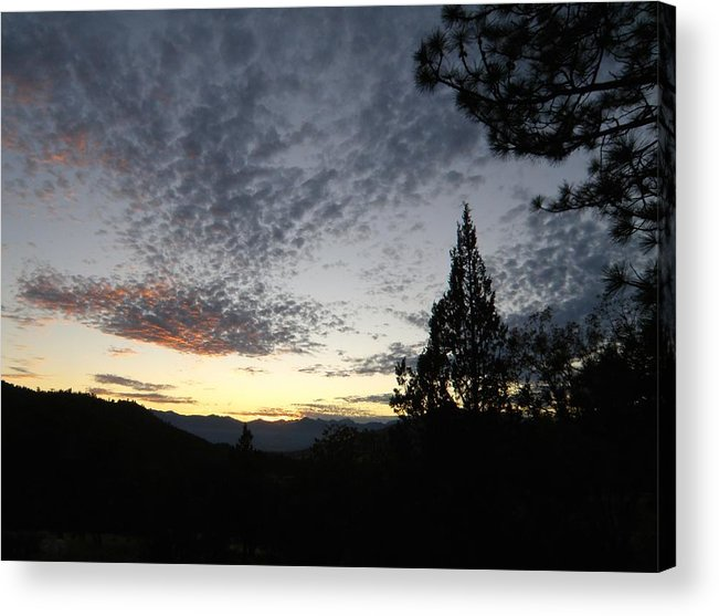 Nature Acrylic Print featuring the photograph Spotted Clouds by William McCoy