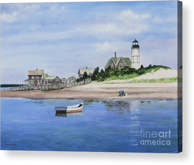 Man Acrylic Print featuring the painting The Clammer by Karol Wyckoff