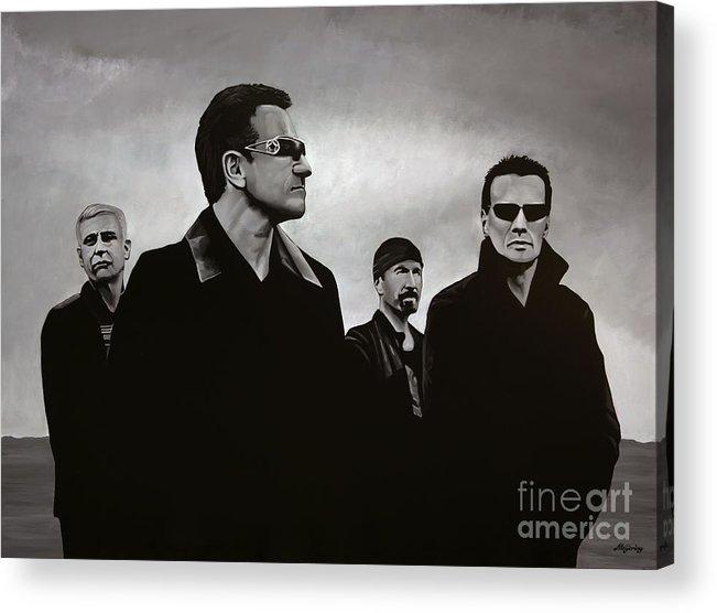 U2 Acrylic Print featuring the painting U2 by Paul Meijering