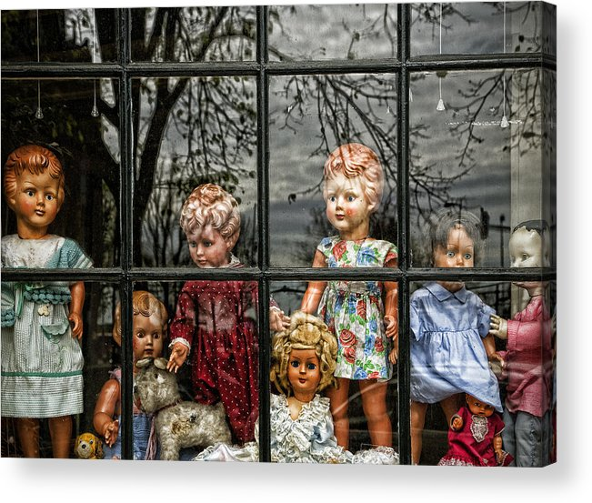 Dolls Acrylic Print featuring the photograph Uncertainty by Joanna Madloch