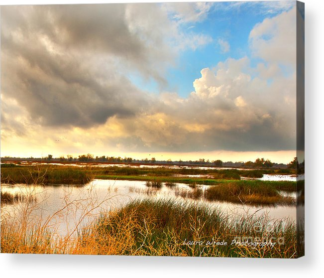 After The Rain Acrylic Print featuring the photograph When The Rain Stopped Over Gray Lodge by Artist and Photographer Laura Wrede