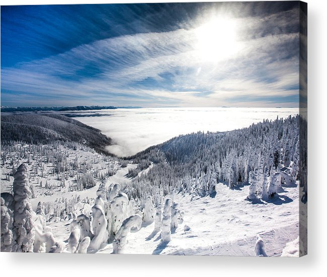 Sun Acrylic Print featuring the photograph Whitefish Inversion by Aaron Aldrich