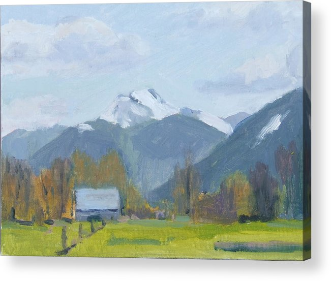 Acrylic Print featuring the painting Whitehorse Mountain East Arlington by Raymond Kaler