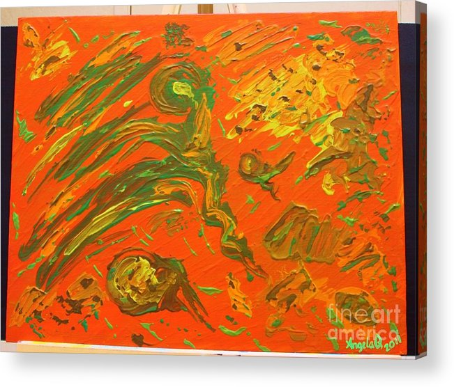 Original Acrylic Print featuring the painting High Winds by Angela Q
