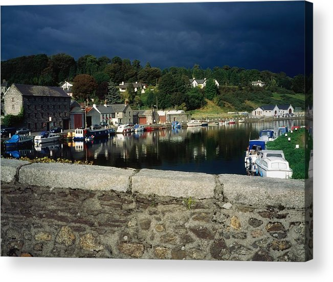 Architecture Acrylic Print featuring the photograph River Barrow, Graiguenamanagh, Co by The Irish Image Collection