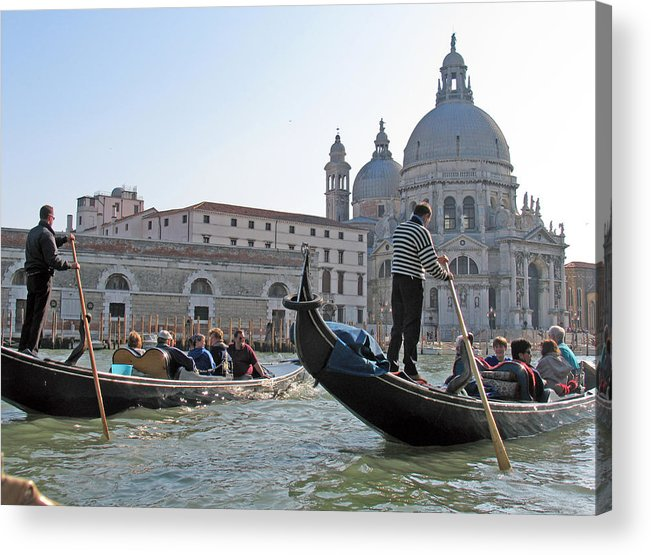 Venice Acrylic Print featuring the photograph A Float In Venice by Bob Davis