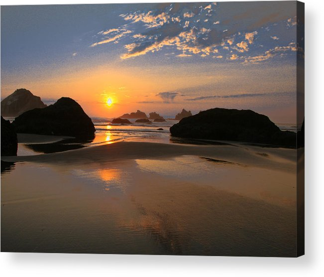 Scenic Acrylic Print featuring the photograph Bandon Scenic by Jean Noren