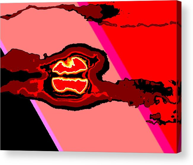 Digital Art Acrylic Print featuring the digital art Bloody Red Sun Of Fantastic L.a. by Jimi Bush