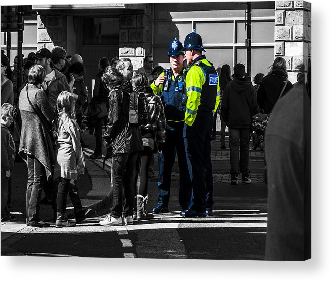 Police Acrylic Print featuring the photograph Coppers by Paul Howarth