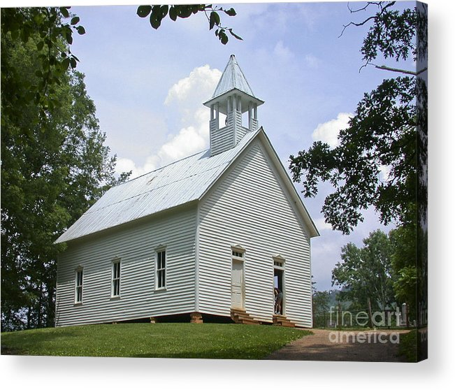 Cades Cove Acrylic Print featuring the photograph Country Church by Tim Mulina