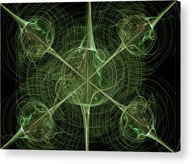 Abstract Acrylic Print featuring the digital art Daggers by Carolyn Marshall