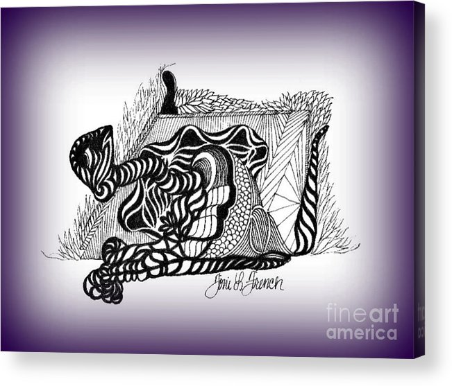 Ink Acrylic Print featuring the drawing Dreams Of Metamorphosis by Mademoiselle Francais