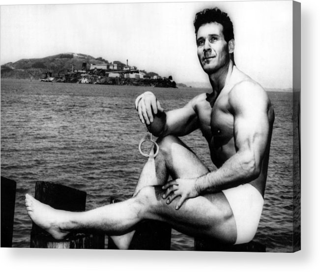 1950s Acrylic Print featuring the photograph Jack Lalanne Before Handcuffed Swim by Everett