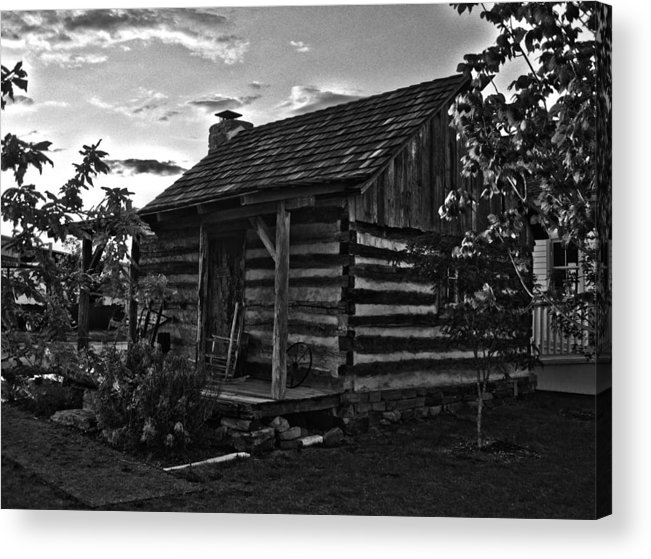 Cabin Acrylic Print featuring the photograph Little Old Cabin by Carolyn Whitaker