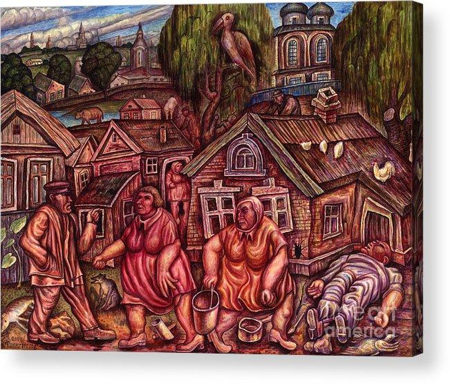 Depressive Acrylic Print featuring the painting No Name II by Vladimir Feoktistov