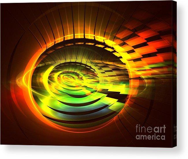 Apophysis Acrylic Print featuring the digital art Nova by Kim Sy Ok