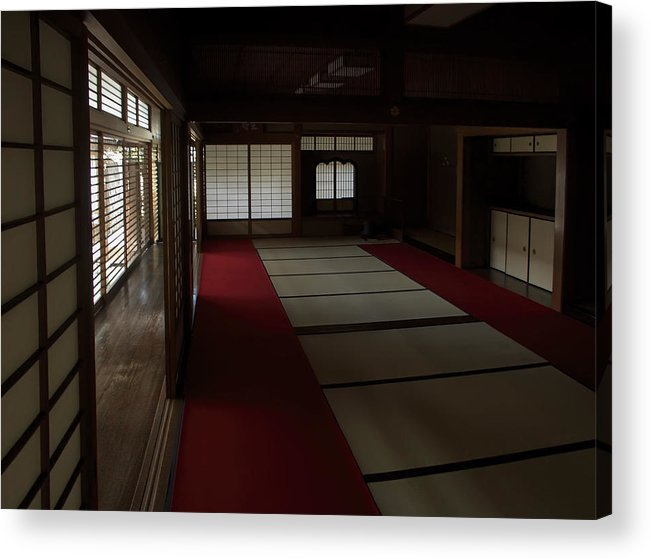 Zen Acrylic Print featuring the photograph Quietude Of Zen Meditation Room - Kyoto Japan by Daniel Hagerman
