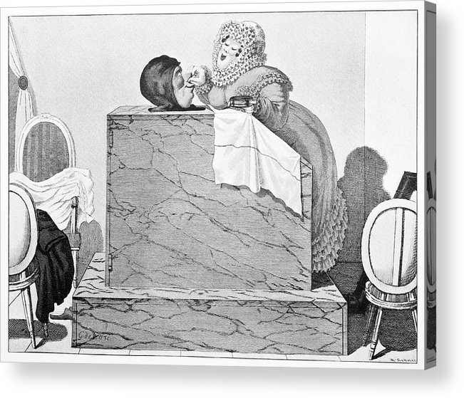 Human Acrylic Print featuring the photograph Steam Bath, Satirical Artwork by