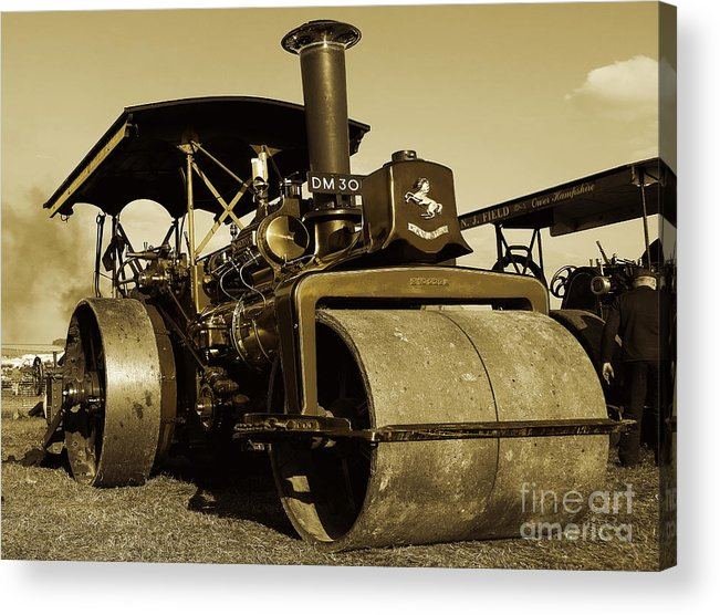 Fred Acrylic Print featuring the photograph The Old Steam Roller by Rob Hawkins