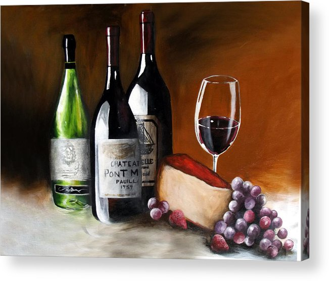 Wine Acrylic Print featuring the painting Uncorked by Alonzo Butler