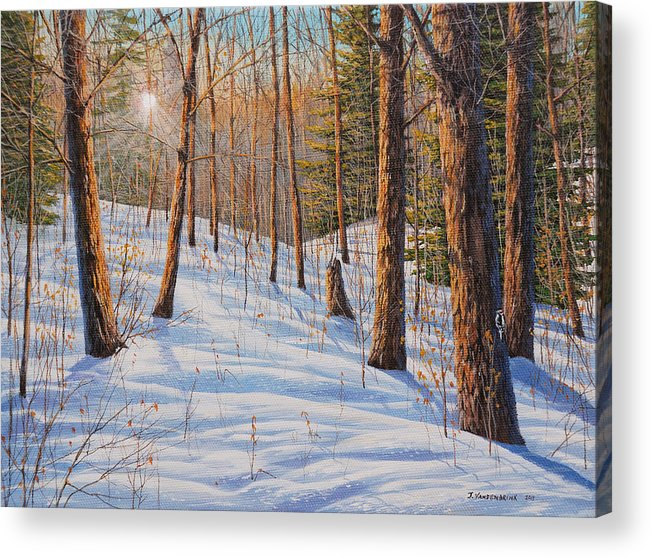 Jake Vandenbrink Acrylic Print featuring the painting Winter Light by Jake Vandenbrink