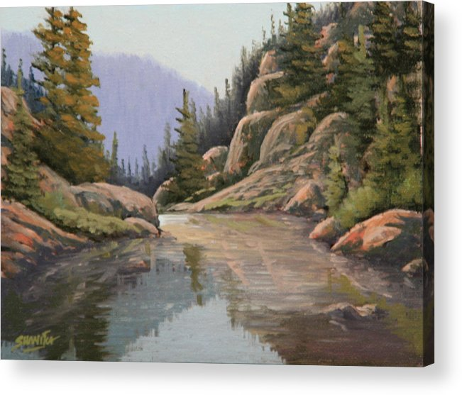 Landscape Acrylic Print featuring the painting 090907-68  Almost There by Kenneth Shanika
