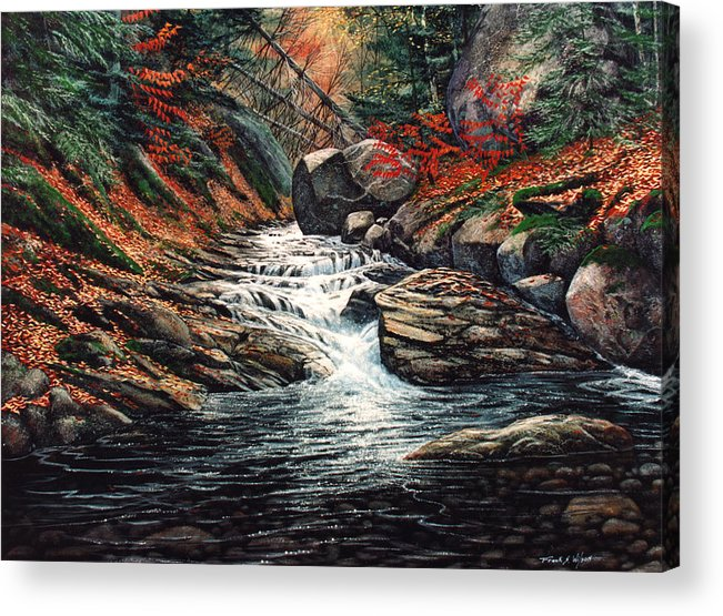 Landscape Acrylic Print featuring the painting Autumn Brook by Frank Wilson