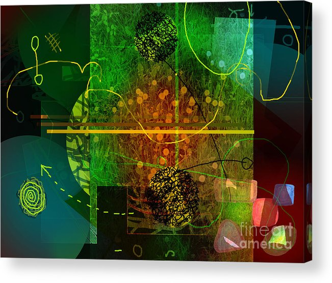 Colorscope Acrylic Print featuring the digital art Colorscope by Andy Mercer