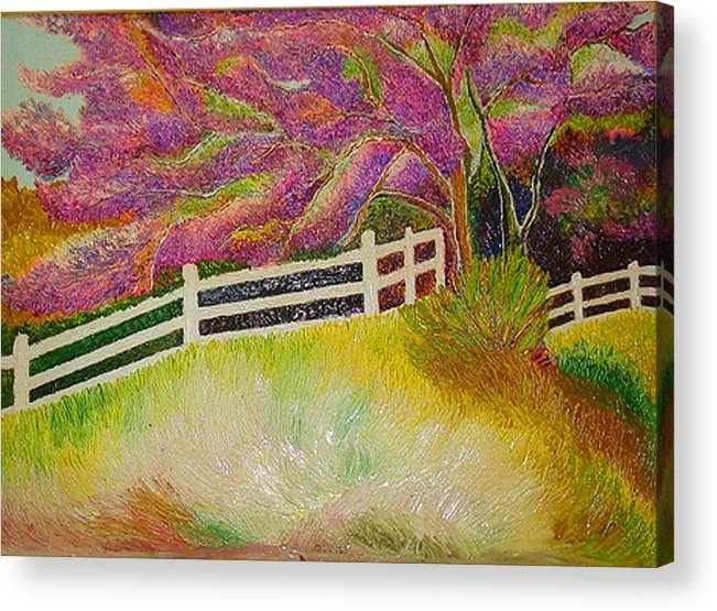Fall Acrylic Print featuring the painting Colourful Earth by Xafira Mendonsa