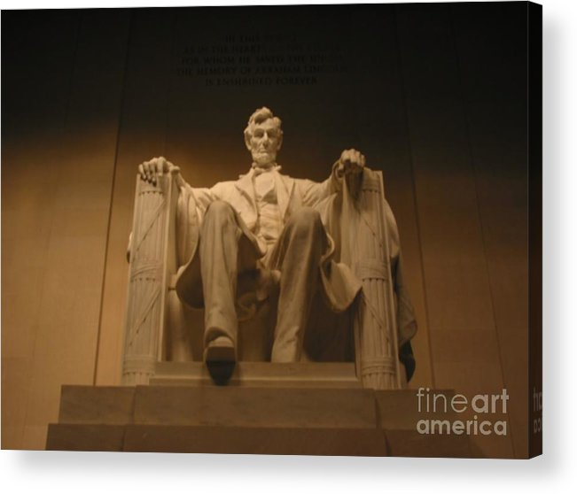 Abraham Lincoln Acrylic Print featuring the painting Lincoln Memorial by Brian McDunn