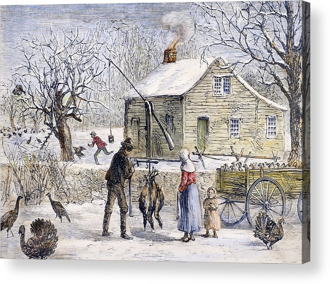 1882 Acrylic Print featuring the photograph Thanksgiving, 1882 by Granger