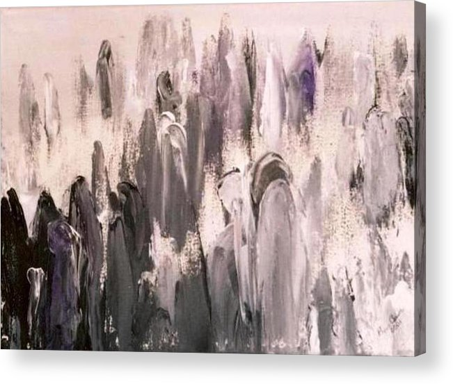 Grays Acrylic Print featuring the painting Who Are We by Bruce Combs - REACH BEYOND