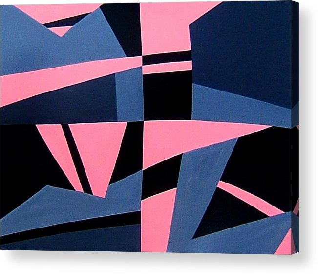 Abstract Acrylic Print featuring the painting Tonight Will Be Fine by Dick Sauer