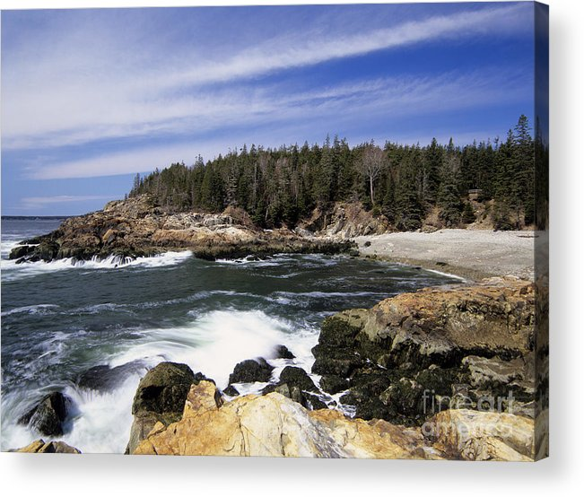 Atlantic Ocean Acrylic Print featuring the photograph Acadia National Park - Maine Usa by Erin Paul Donovan