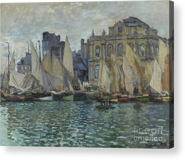 Claude Acrylic Print featuring the painting The Museum At Le Havre by Claude Monet