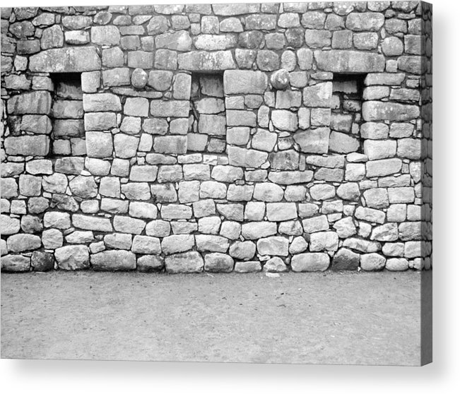 Machu Picchu Acrylic Print featuring the photograph 3 Windows by Marcus Best