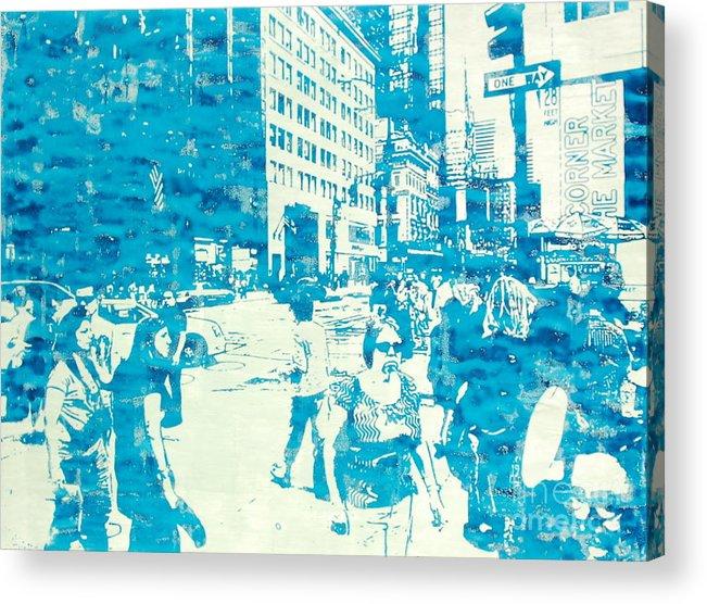 Silkscreen Acrylic Print featuring the painting 665 Fifth Avenue New York City by Jonathan Deutsch