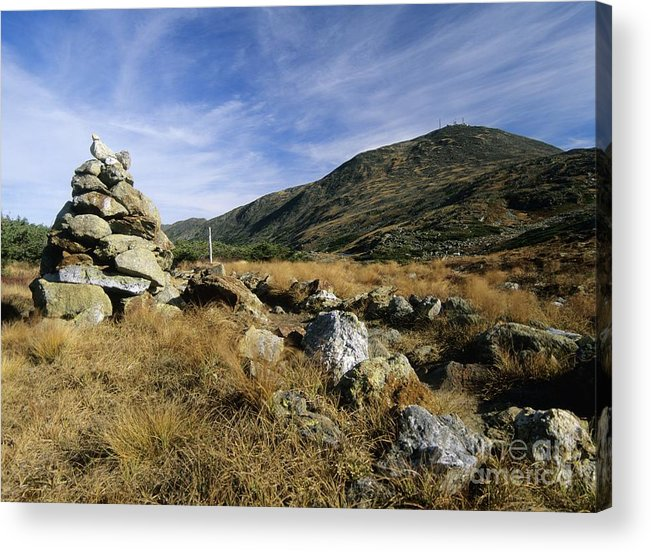 Cirrus Clouds Acrylic Print featuring the photograph Mount Washington - White Mountains New Hampshire Usa by Erin Paul Donovan