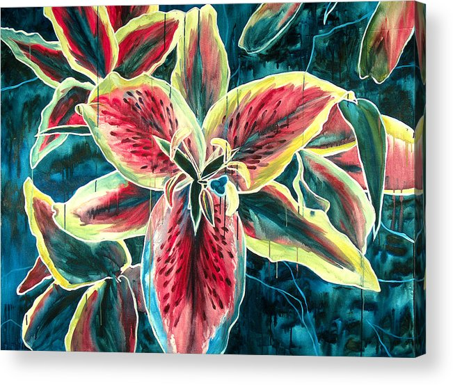 Floral Painting Acrylic Print featuring the painting A New Day by Jennifer McDuffie
