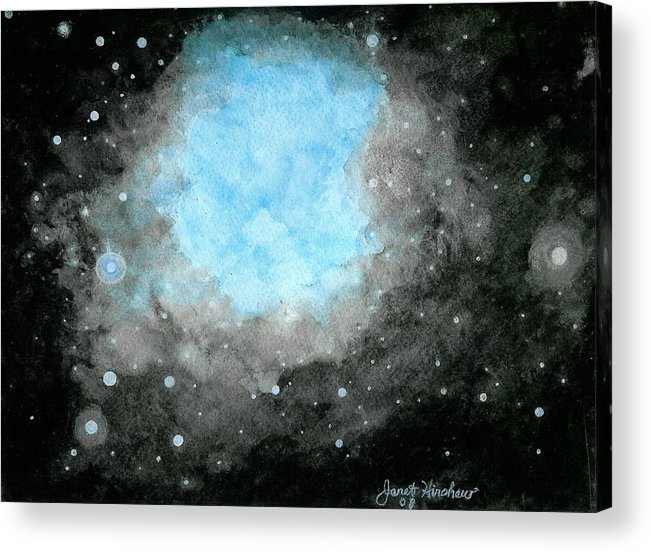 Atmospheric Acrylic Print featuring the painting A Peek Into Heaven by Janet Hinshaw