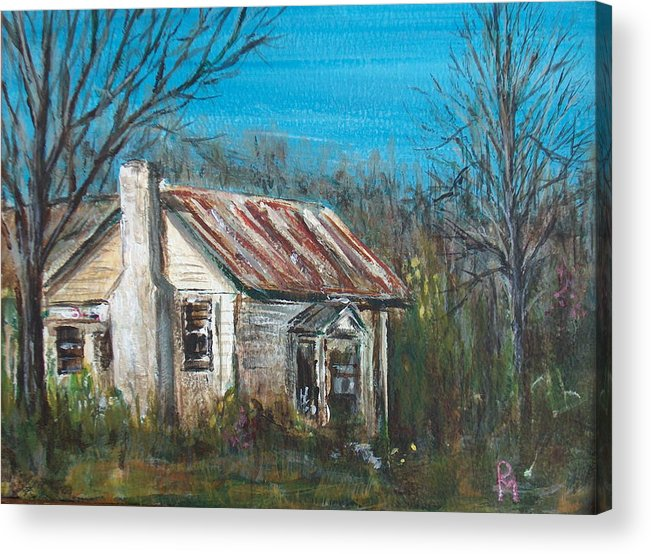 House Acrylic Print featuring the painting Abandoned by Pete Maier