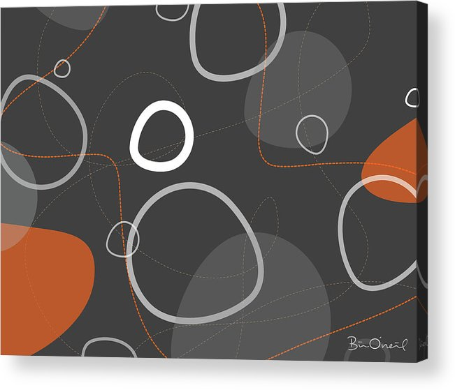 Retro Acrylic Print featuring the print Adakame - Atomic Abstract by Bill ONeil
